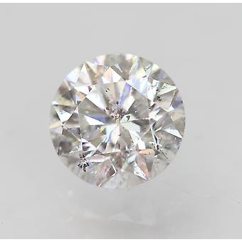 Sertifioitu 0,63 karat D VS2 pyöreä brilliant parannettu luonnollinen löysä timantti 5,36mm