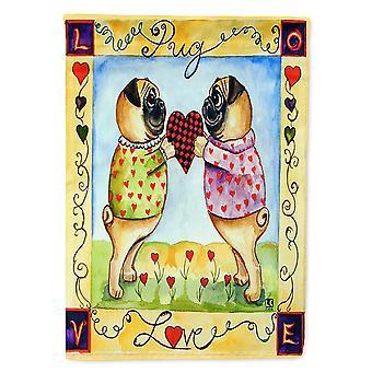 Les trésors de Caroline 7046Gf Carlin d'amour Carlin d'amour Amour Saint-Valentin Drapeau, Petit, Multicolore