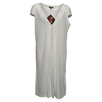 IMAN Global Chic Women's Luxury Resort Duster Vest White 685922