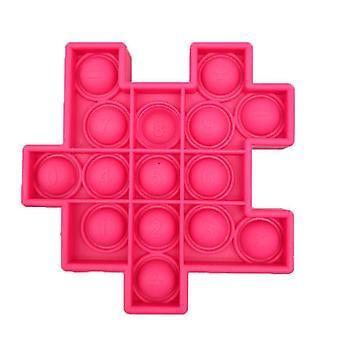 ارتفع 1Pcs الأحمر 6 PCS كرة السيليكون للأطفال لعب لعبة نمط مكعب روبيك حزمة تخفيف التوتر مع ألعاب اليد تململ az21913