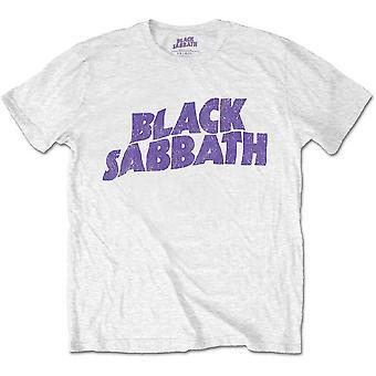 Black Sabbath - Wavy Logo Enfants 1 - 2 Ans T-Shirt - Blanc