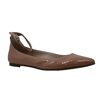 BCBGeneration Womens Malinda Suede Pointed Toe Ankle Strap Ballet Flats