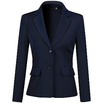 Mile Women's Single Breasted 2 Button Solid Color Casual Blazer Suit Jacket