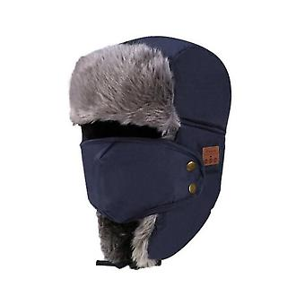 Bluetooth Winter Trapper Ushanka Windproof Hat,beanie Russian Hats For Men And Women Outdoor Skiing