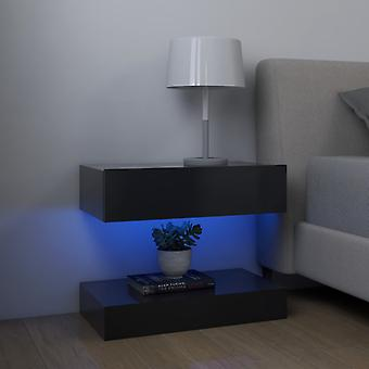 vidaXL nattbord 2 stk. grå 60x35 cm sponplater