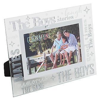 "6"" x 4"" - CELEBRATIONS Friends & Family Frame - THE BOYS"