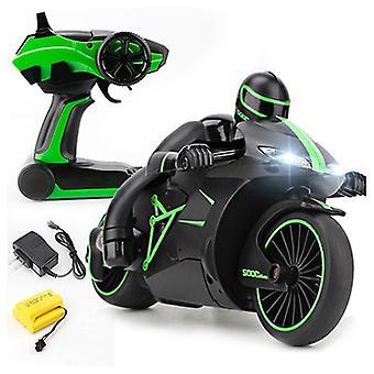 2.4G Mini Mote Fjernkontroll Drift Motor Barn Leker For Gave rc motorsykkel (Grønn)