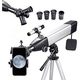 Teleskop Astronomie 167X 60/500 Fernrohr Teleskop für Kinder Einsteiger Amateur-Astronomen, mit