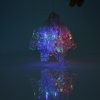 Висячий фотозажим Светодиодные лампочки Полоса с регулируемым клипом и Usb-кабель 2,2 м