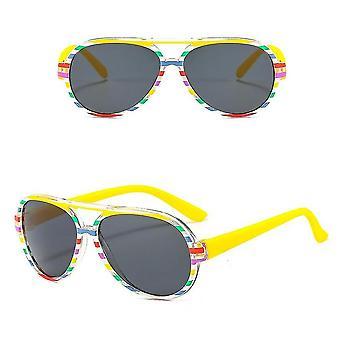 Children's Sunglasses Uv Protection Trend Catwalk(Yellow)
