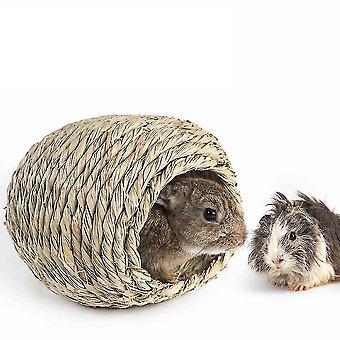 Paja conejo nido caña deja mascotas suministros ardilla cobaya mini nido de conejo