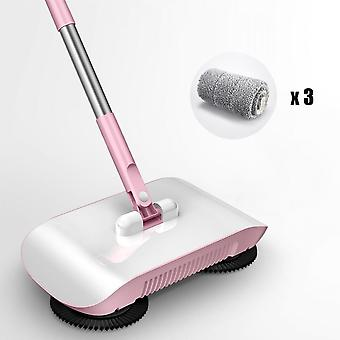Stainless Steel Hand Push Broom Broom Mop Integrated Household Cleaner No Blind Spot Cleaning Tool