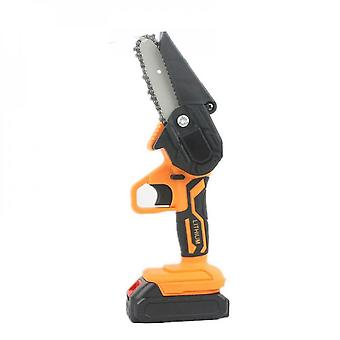 Evago 48v With Plastic Box 4-inch Mini Chainsaw, Mini Chainsaw Cordless, Electric Prunning Chainsaw With 1 Battery/2 Batteries & Quick Charger, Batter