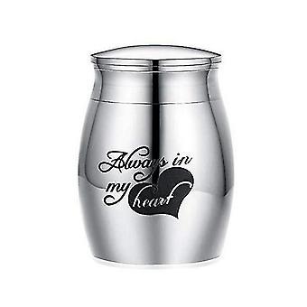 Memorial urns always in my heart pets ashes memorials stainless steel cremation urn casket