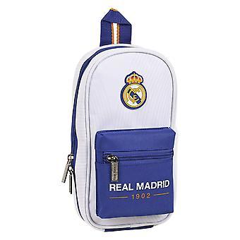 Sac à dos Crayon Case Real Madrid C.F. Bleu Blanc (33 Pièces)