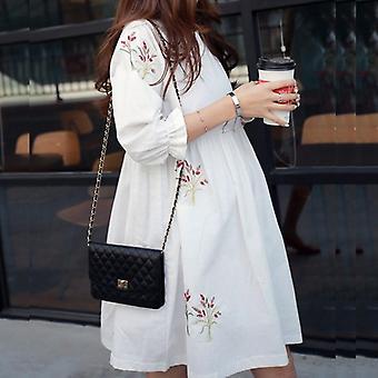 Robes de maternité amples Chemisiers en coton Chemises Robe de grossesse