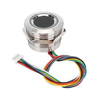 Cirkulär fingeravtrycksidentifieringsmodul med indikatorlampa