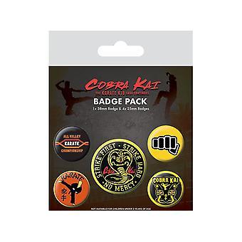 Cobra Kai No Mercy Badge Pack