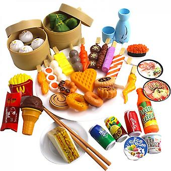 Deluxe Pretend Play Food Set Beautiful Toy,random Food Toys