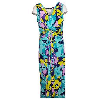 IMAN Global Chic Dress Flawless Knit Maxi Blue 751382