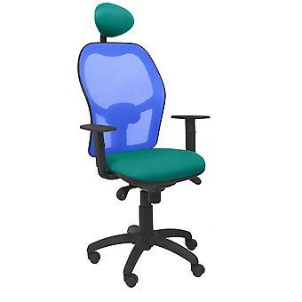 Bureaustoel met hoofdsteun Jorquera P&C BALI39C Lichtgroen