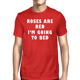 Roses Are Red Mens Red T-shirt Funny Graphic Tee Short Sleeve Shirt