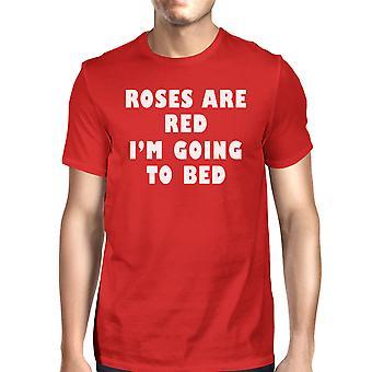 Róże są czerwone męskie czerwony T-shirt śmieszne Graphic Tee koszula z krótkim rękawem