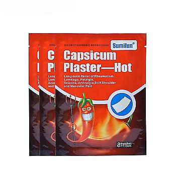 8pcs Capsium الجص الساخن المشتركة المضادة للألم ملصقا الخصر الرقبة الركبة الأعشاب الحرارة التصحيح استعادة التهاب المفاصل
