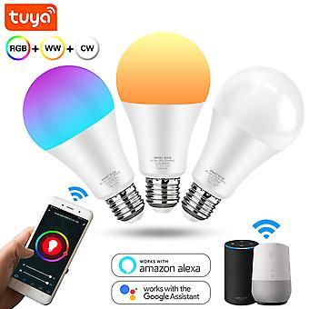 Smart LED Glühbirne 12w 15w Wifi Rgb Lampe E27 Farbe Dimmbare LED Birne Arbeit mit Tuya Smart Life App Sprachsteuerung Alexa Google