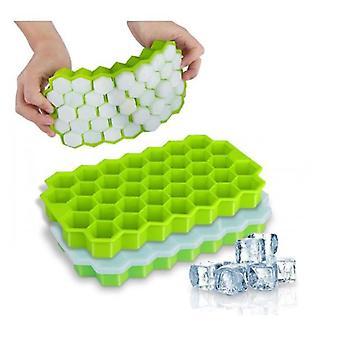 2 moules de cube de glace de silicone de paquet avec le couvercle flexible plateaux de glace Bpa libre