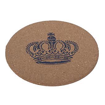 5kpl pehmeä puukuppi mat coaster 10kpl pieni kruunu