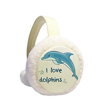 Rakastan delfiinejä havainnollistaa talvi earmuff