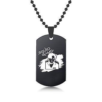 16# Squid Game Film & Tv Surroundings Stainless Steel Necklace Jewelry Pendant