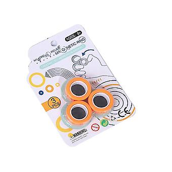 Magnetisk ring ångestleksaker för autism stressavlastare Orange