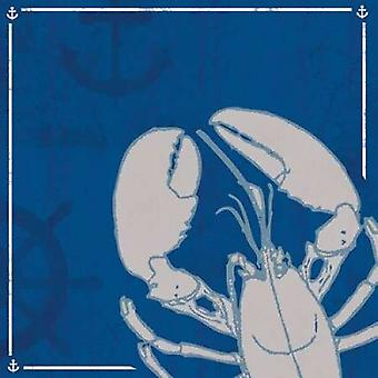 Blue Sea Lobster Poster Print by Lauren Gibbons