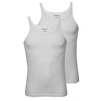 Emporio Armani coletes de Tank Top 2-pacote de algodão puro, branco