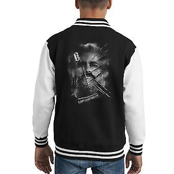 Narco Pablo Escobar linee Varsity Jacket capretto