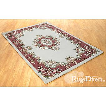 Royal Indian Cream-Rose The design is in shades of rose, green and beige on a cream background Half Moon Rugs Traditional Rugs