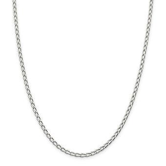 925 Sterling Silber solid poliert Rhodium vergoldet Hummer Kralle Verschluss Rhodium vergoldet 3,2 mm offene Link Kette Armband 7 I