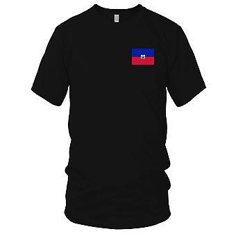 Haiti nasjonale flagg - brodert Logo - 100% bomull t-skjorte damer T skjorte