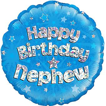 Oaktree 18 Inch Circle Happy Birthday Nephew Foil Balloon