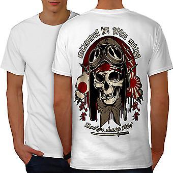 Japan Monster Pilot män WhiteT-shirt tillbaka | Wellcoda