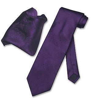 Vesuvio Napoli PAISLEY NeckTie Handkerchief Matching Neck Tie Set