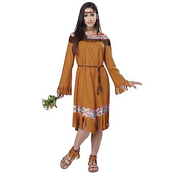 Classica indiana Pocahontas inaugurale nativo americano Thanksgiving Womens Costume