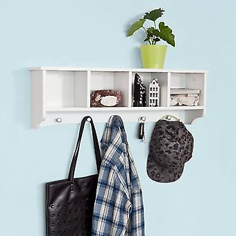 SoBuy Wall Display deposito Coat Rack armadio bianco legno, FRG48-L-W