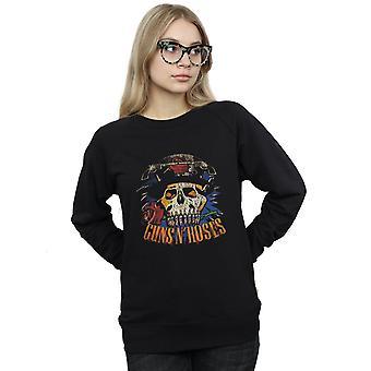 Guns N Roses Women's Vintage Skull Sweatshirt