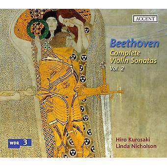 Hiro Kurosaki & L. Nicholson - Beethoven: Kompletne Sonaty skrzypcowe, import USA Vol. 2 [CD]