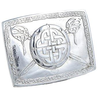 Celtic Design Pewter Belt Buckle