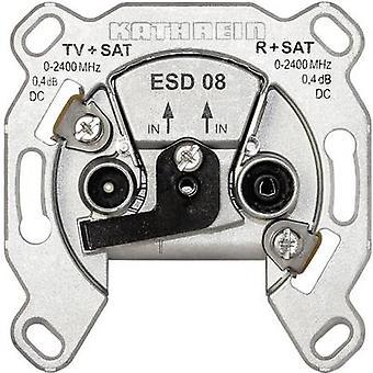 Kathrein ESD 08 antenne aansluiting SAT, TV, FM Flush mount één