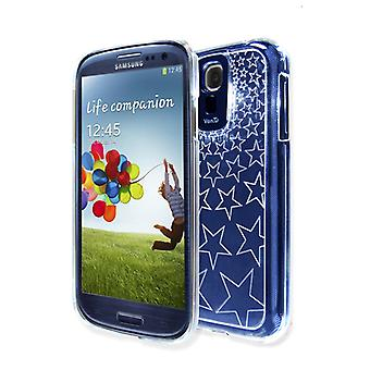 VanD Clear Flashing Case for Samsung Galaxy S4/i9500 with Black LED Cover